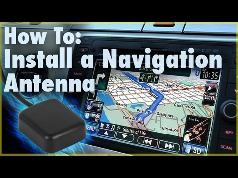 How To Install A Gps Navigation Antenna Car Stereo
