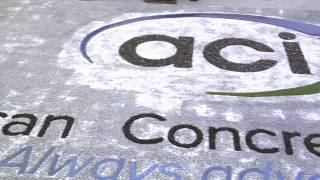 The New American Concrete Institute Logo in Pervious Concrete