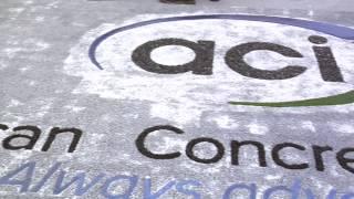 The New American Concrete Institute Logo in Pervious Concrete