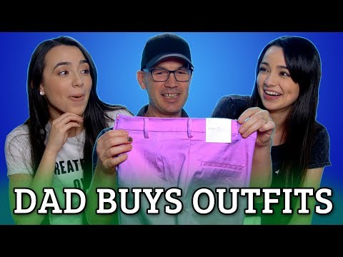 Dad Buys Daughters Outfits Challenge - Merrell Twins