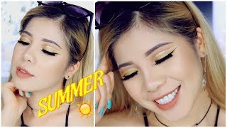 GET READY WITH ME - SUMMER CUT CREASE MAKEUP 🌤