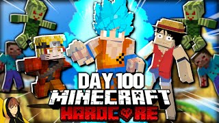 I Survived 100 Days with EVERY Anime Mod in Hardcore Minecraft... Here's What Happened!