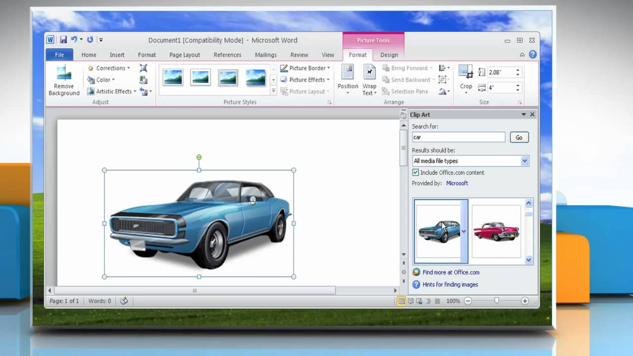 import clip art into word 2010 - photo #46