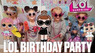 LOL SURPRISE DOLLS THEMED BIRTHDAY PARTY FOR FOUR-YEAR-OLD GIRL