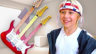 Yarik Play Musical instruments and Super Toy Guitar, Starts Band and wake Up Mom