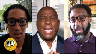 Magic Johnson, Tracy McGrady and Scottie Pippen debate LeBron vs. Giannis for NBA MVP | The Jump