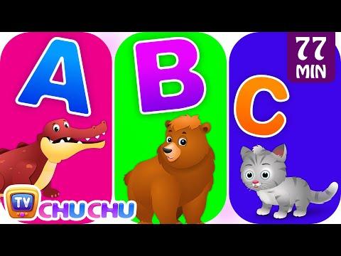 ChuChu TV Alphabet Animals Song with Animal Names & Animal Sounds   Nursery Rhymes for Kids