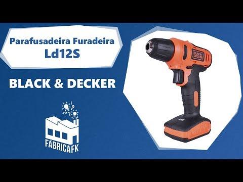 """Parafusadeira Furadeira 3/8"""" 12V LD12S Black&Decker – Bivolt - Vídeo explicativo"""
