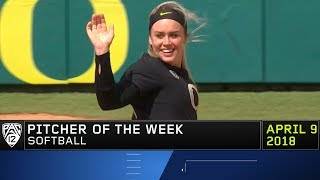 Oregon's Miranda Elish claims Pac-12 Softball Pitcher of the Week award