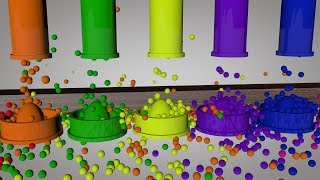 Learn colors with eggs bath and balls for toddlers babies preschools learning colours videos