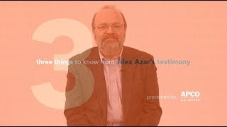 Three Things to Know From Alex Azar's Testimony