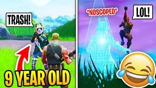 I Met A Toxic 9 Year Old in Fortnite Squad Fill, So I 1v1d him... (RAGE)