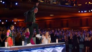 TOP 5 GOLDEN BUZZER Rap Auditions On Got Talent!
