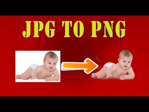 How to convert jpg to png image with full transparency or without background