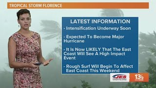 Tropics Update: Tracking Florence, other tropical systems Sunday, September 9, 2018