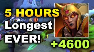 5 HOURS!!! - LONGEST GAME EVER OF DOTA 2 - LC 4500+ Duel DAMAGE!
