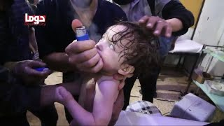 Medics in Syria describe smelling chlorine on survivors of alleged chemical attack