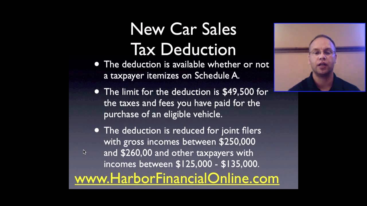 new car sales tax deduction 2012 2013 youtube. Black Bedroom Furniture Sets. Home Design Ideas