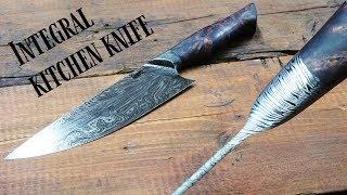 knife making - Integral Damascus chef's knife