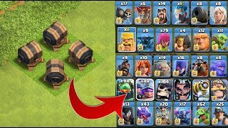 GIANT CANNON Vs ALL TROOPS - clash of clans private server....