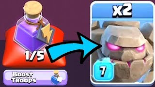 BOOSTED TROOPS SPELL!?!   Clash Of Clans   NEW SPELL!!!