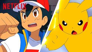 Ash & Pikachu's Epic Battle Moments | Pokémon Journeys | Netflix Futures