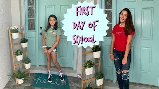FIRST DAY OF SCHOOL GET READY WITH ME! EMMA AND ELLIE