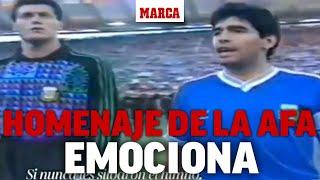 El vídeo de despedida que te hará llorar: el homenaje de la AFA a Maradona I MARCA