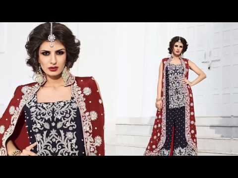 Indian wedding dresses: latest designer wedding Suits & Short Kurta Pajama Style Heavy Sarara