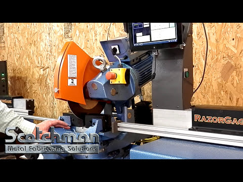 Scotchman RG-Programable Measuring Stop System Demonstration on Circular Cold Saw
