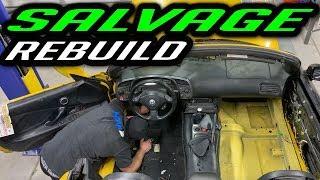 Rebuilding a Wrecked Salvage Honda s2000 Part 14