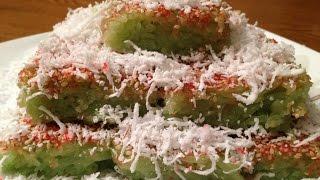 SWEET COCONUT RICE CAKE! CAMBODIAN DESSERT-ASIAN DESSERT