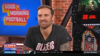 GMFB | Chris Long & Nate CRITICIZED WR Antonio Brown's helmet drama negatively impacting the Raiders
