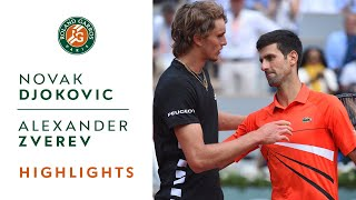 Novak Djokovic vs Alexander Zverev - Quarterfinals Highlights   Roland-Garros 2019