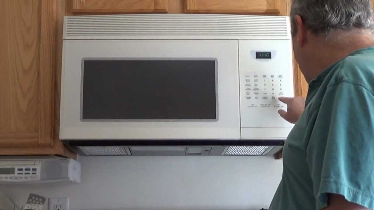 Over The Range Microwave Oven Installation Of Youtube