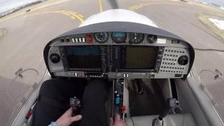 First Solo Flight DA40 Jan 28/2017