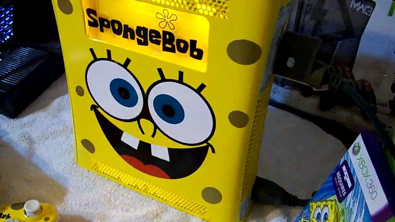 Custom Xbox 360 Elite Spongebob Kinect 2 Modded