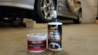 Meguiars Metal Polish VS Mothers Aluminum Wheel Polish - WS6 Wheels