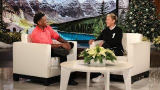 Ellen Meets Olympian Whose Amazing Animal Rescue Went Viral