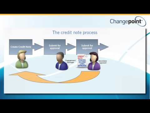Invoicing in Changepoint - Creating a Credit Note.