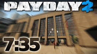 PAYDAY 2 - First World Bank - Speedrun 7:35 m [Solo - Death Sentence]
