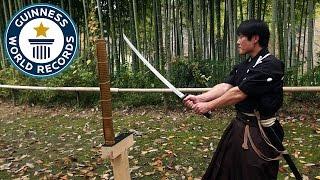 Martial arts master attempts katana world record - Guinness World Records