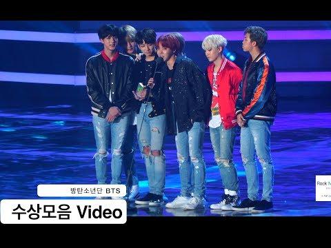 방탄소년단 BTS[4K 직캠]수상모음 Video, 풀캠@171202 락뮤직