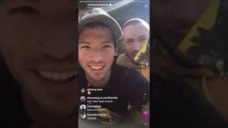 Josh Dun Livestream addressing trench leak (Ty gets lil bit mad )