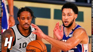 San Antonio Spurs vs Philadelphia 76ers - Full Game Highlights | August 3, 2020 | 2019-20 NBA Season