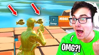 I Found TWO MIDAS FLOPPERS  in ONE GAME in Fortnite (How To Find Midas Flopper)