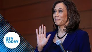 Sen. Kamala Harris speaks at Howard University hours after announcing she'll run for president in...