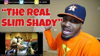 I swear MGK stood up lol!   Eminem - The Real Slim Shady   REACTION