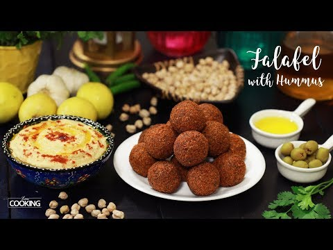 Falafel with Hummus | Homemade Hummus Dip | Chickpea Recipe