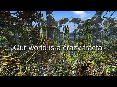Our world is a crazy fractal (3D, side-by-side)